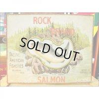 釣りグッズ・インテリア【アメリカンブリキ看板】ROCK BRAND SALMON(ロックブランドサーモン) 品番:BS015