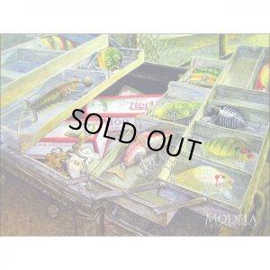 画像3: 釣りグッズ・インテリア【アメリカンブリキ看板】ヘドン  ルアーのつまったタックルボックス 品番:BS005