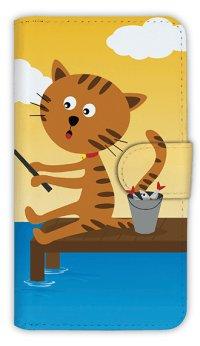 [アングラーズケース]【手帳型】猫と釣り 晴天なり (商品コード: diary2015110711)