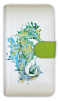 [アングラーズケース]【手帳型】トロピカルなタツノオトシゴ (商品コード:  diary2015110508)
