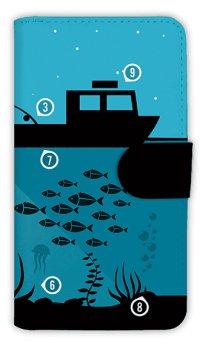 [アングラーズケース]【手帳型】夜のボート釣り指南 (商品コード: diary2015110716)