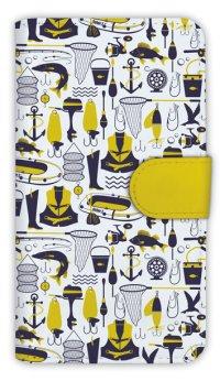[アングラーズケース]【手帳型】釣具のシームレスパターン (商品コード:  diary2015110210)
