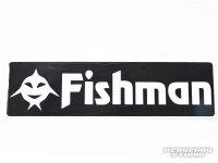 [Fishman/フィッシュマン] Fishicon Fishman ステッカー黒 (code:FM1266)