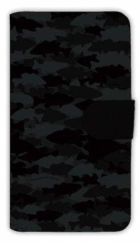 [アングラーズケース] 【手帳型】HEDGEHOG STUDIO 迷彩柄 ブラックバス ニンジャ (商品コード: diary2016031006)