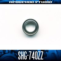 【高精度ハンドルノブベアリング】 SHG-740ZZ 内径4mm×外径7mm×厚さ2.5mm プレミアムタイプ