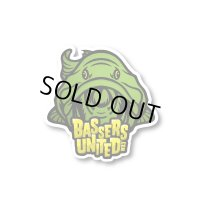 [BASSERS UNITED/バサーズユナイテッド] Fish LOGO Sticker [GREEN] (code:BUM005)