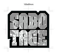 [BASSERS UNITED/バサーズユナイテッド] SABOTAGE STICKER (code:BUM011)