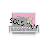 "[Bass Brigade/バスブリゲード] 4"" BOXED BASS STICKER - PINK (code:BRD129)"