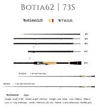 【TRANSCENDENCE/トランスセンデンス】 Botia 62S+  / ボティア