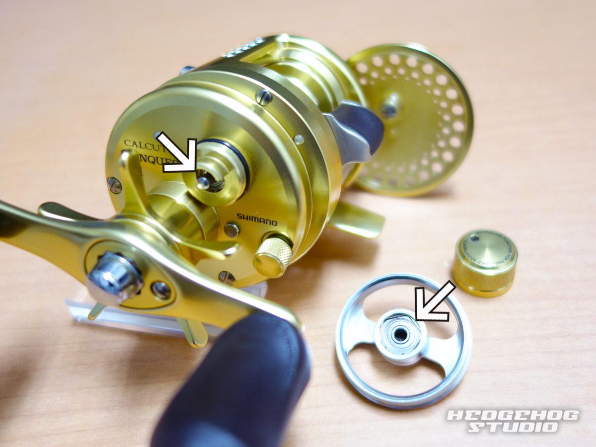 カルカッタコンクエスト50シリーズのベアリング交換方法